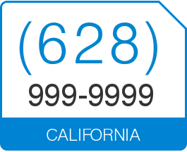 Wonderful Product Description. California Area Code 628 Local Vanity Telephone Number  ...